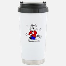 Clarinet Cat Stainless Steel Travel Mug