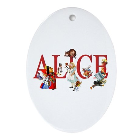 ALICE AND FRIENDS Ornament (Oval)