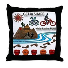 Get in Shape Throw Pillow