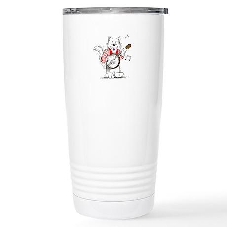 Banjo Cat Stainless Steel Travel Mug