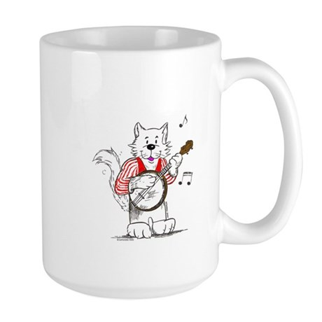 Banjo Cat Large Mug