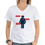 who to listen to Women's V-Neck T-Shirt