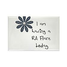 Flower : I am having a RA flare Rectangle Magnet