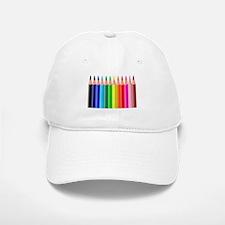 Color Pencils Baseball Baseball Cap