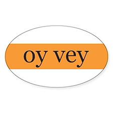 """oy vey"" sticker"