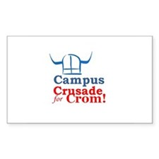 campus crusade for crom! Rectangle Decal