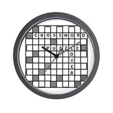 Crossword Puzzle Lover Wall Clock