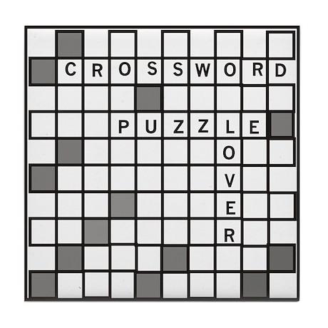 Crossword Puzzle Lover Tile Coaster