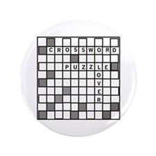 "Crossword Puzzle Lover 3.5"" Button"