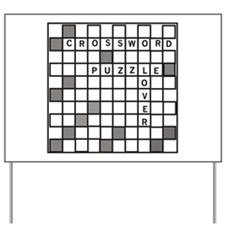 Crossword Puzzle Lover Yard Sign