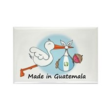 Stork Baby Guatemala Rectangle Magnet