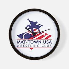 Mat-Town Flag Logo Wall Clock