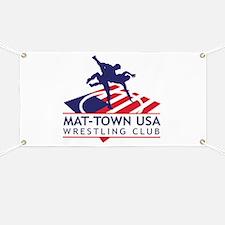 Mat-Town Flag Logo Banner