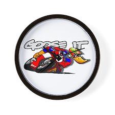 Goose It Road Racing Wall Clock