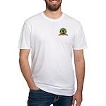 You Hug 'Em - We Cut 'Em Fitted T-Shirt