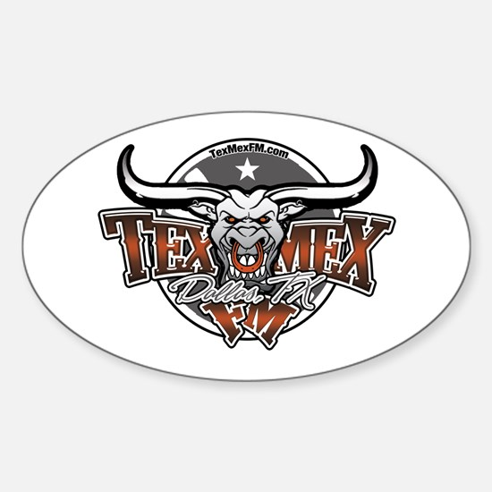 TexMex FM Dallas Gear Oval Decal