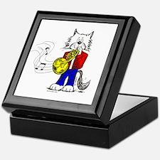 French Horn Cat Keepsake Box