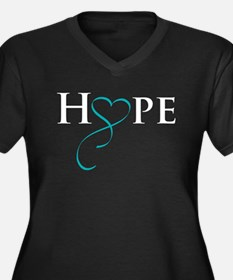 Cool Ovarian cancer Women's Plus Size V-Neck Dark T-Shirt