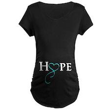 Teal onTransparant Maternity T-Shirt