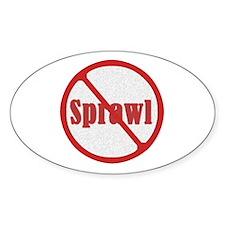 No Sprawl Oval Decal