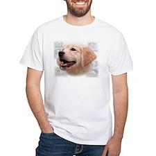 GOLDEN RETRIEVER HEAD PUPPY MONTAGE Shirt