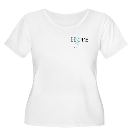 HopeTealRibbon Plus Size T-Shirt