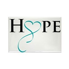 Unique Ribbon of hope Rectangle Magnet