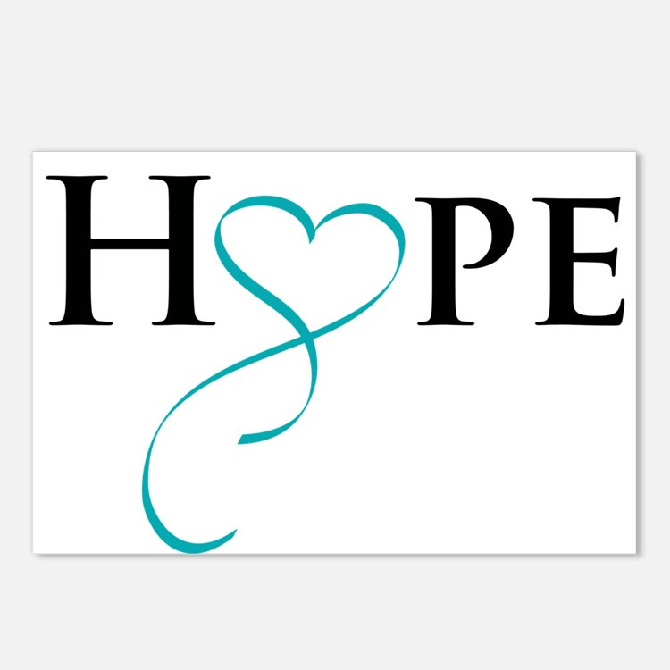 Cute Gynecologic cancer Postcards (Package of 8)