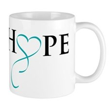 HopeTealRibbon Mugs