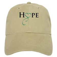 Cute Gynecologic cancer teal ribbon Baseball Cap