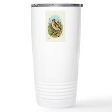 Goldfinch Bird Vintage Art Travel Mug