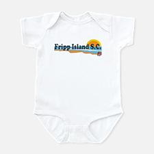 Fripp Island SC - Beach Design Infant Bodysuit