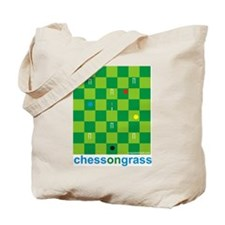 Chess On Grass Croquet Tote Bag