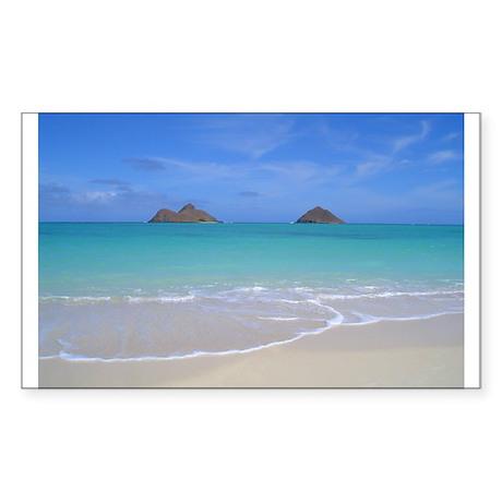 Lani Kai Beach Sticker (Rectangle)