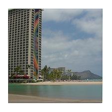 Duke Kahanamoku Beach Tile Coaster