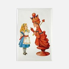 ALICE & THE RED QUEEN Rectangle Magnet