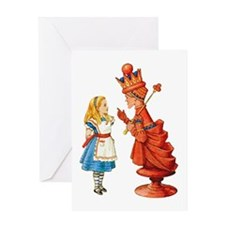 ALICE & THE RED QUEEN Greeting Card