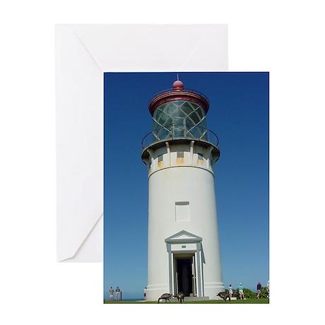 Kilauea Lighthouse Kauai Greeting Card