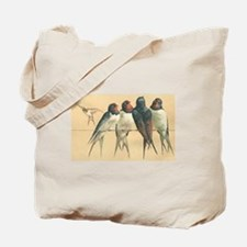 Swallows Birds Vintage Art Tote Bag