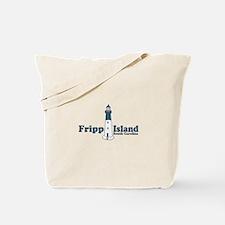 Fripp Island - Lighthouse Design Tote Bag