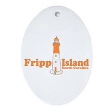 Fripp Island - Lighthouse Design Oval Ornament