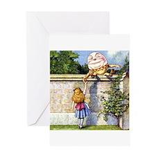 ALICE & HUMPTY DUMPTY Greeting Card