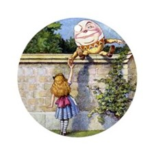 ALICE & HUMPTY DUMPTY Ornament (Round)