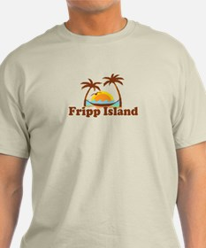 Fripp Island - Sun and Waves Design T-Shirt