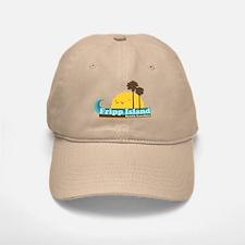 Fripp Island - Sun and Waves Design Baseball Baseball Cap