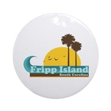 Fripp Island - Sun and Waves Design Ornament (Roun