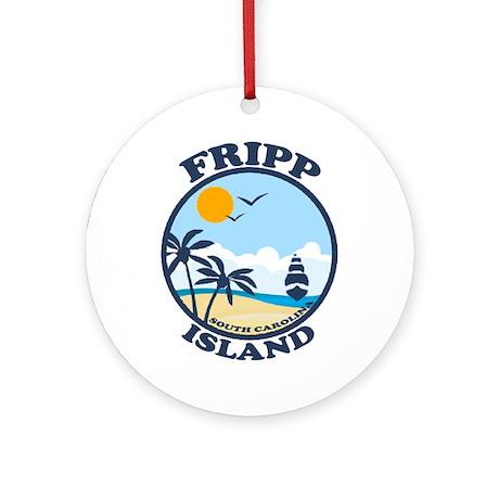 Fripp Island - Beach Design. Ornament (Round)