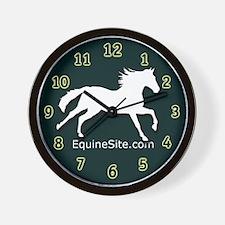 White Horse EquineSite.Com Wall Clock