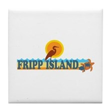 Fripp Island - Beach Design. Tile Coaster