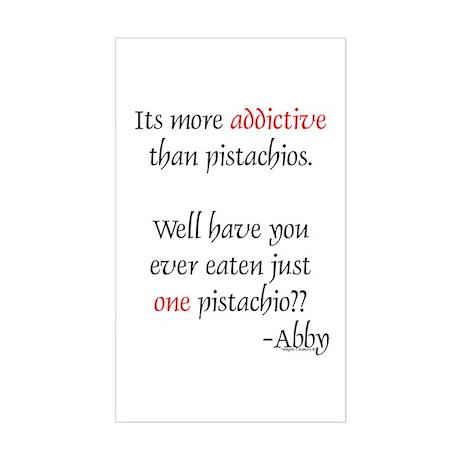 Addictive Pistachios Rectangle Sticker